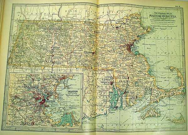 Lot 3154: THE CENTURY ATLAS OF THE WORLD 1902 Antique Cartography Geography History Double-Page Color National Regional Maps Insets