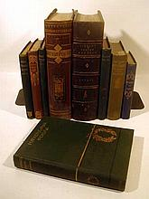 Lot 3159: 9V Tennyson Enoch Arden DECORATIVE ANTIQUE POETRY Leather Bound Lowell Tragedy Of Sophocles Plumptre Bryant British King Rene's Daughter Hertz