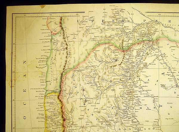 Lot 3014: J Arrowsmith MAP OF THE UNITED PROVINCES OF LA PLATA THE BANDA ORIENTAL & CHILE 1834 Antique Cartography History South America Argentina Uruguay