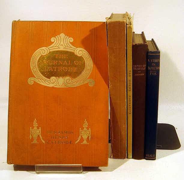 5V Latrobe Diary Alexander Hamilton Australia Travel ANTIQUE ESTATE BOOKS Jolliet-Marquette Expedition James Van Horne Michigan Plains