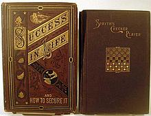 Lot 3055: 8V Spayth's Checker Player ANTIQUE REFERENCE Success In Life And How To Secure It Velazquez Murillo Italian German English Dictionaries Checkers Miniature Decorative Leatherbound