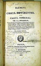 Lot 3128: 2V Jean-Louis Boucharlat THEORIE DES COURBES ET DES SURFACES DU SECOND ORDRE / ELEMENS DE CALCUL DIFFERENTIEL ET INTEGRAL 1810/1830 Antique Science Mathematics