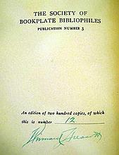 Lot 3129: Winward Prescott MASONIC BOOKPLATES 1918 Author-Signed Limited Edition Antique Freemasonry Reference Plates Society Of Bookplate Bibliophiles
