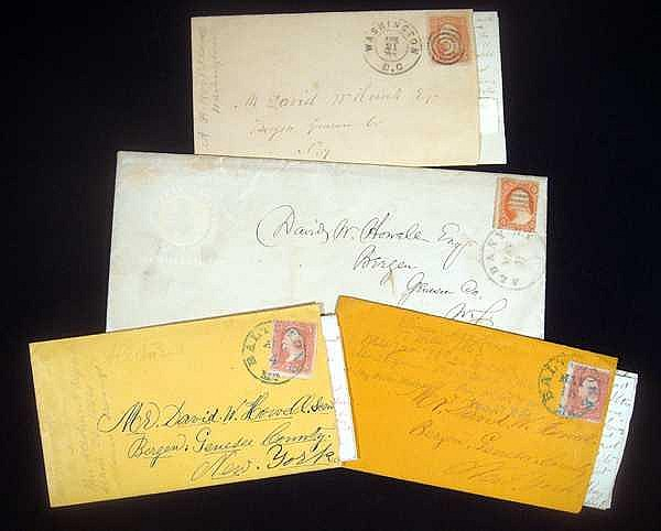 Lot 3123: 4Pcs ANTIQUE AMERICAN CIVIL WAR CORRESPONDENCE Union Army Fort Federal Hill Family Musician Iowa Regiment Howell Farm Confederacy Potomac Maryland Washington