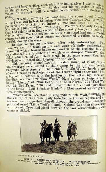 Lot 3041: Ostrander et al THE CUSTER SEMI-CENTENNIAL CEREMONIES 1926 First Edition Antique Military History Western Americana Native Americans Photos