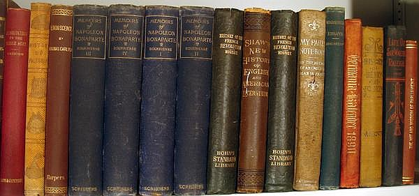 Lot 3161: Stoddard McCaulay VINTAGE AND ANTIQUE WORLD HISTORY Reformation Essays Of Elia French Revolution Memoirs Of Napoleon Decorative Leather Bindings