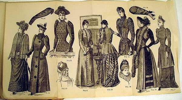 Lot 3186: Late 19th Century ANTIQUE PETERSON'S MAGAZINES Fashion Plates Color Plates Advertisements Decorative Arts Embroidery Alphabet For Marking