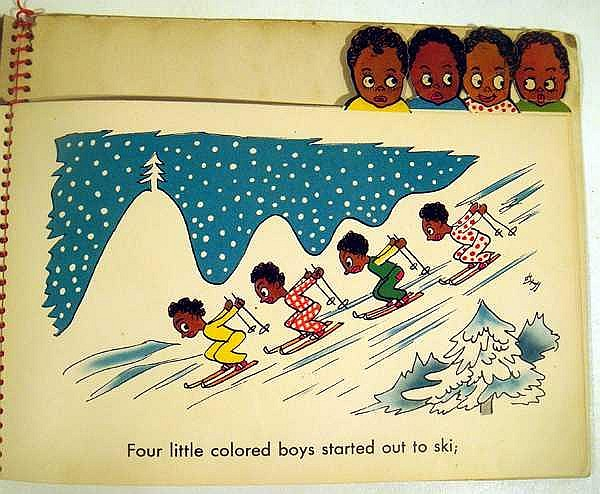 Lot 3187: Emery I Gondor TEN LITTLE COLORED BOYS 1942 First Edition Vintage Children's Literature African American Caricatures Decorative Binding