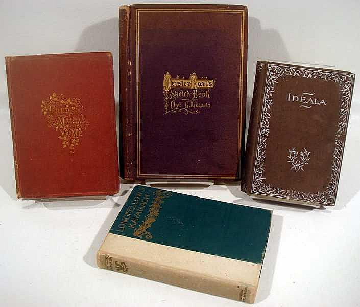 Lot 3182: 8V Longfellow Hawthorne DECORATIVE ANTIQUE LITERATURE Tourgee Grand Abbach Coverley Thomson Illustrated Leland Meister Karl Sketch Book