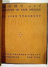 Lot 3042: Shakespeare Anderson LITTLE LEATHER LIBRARY Hugo Irving Lewis Carroll Turgenev Kipling Ibsen Whittier Coleridge De Quincey
