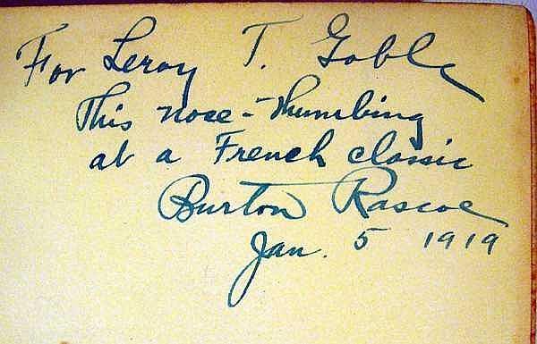 Lot 3044: 2V Flaubert / Abbe Prevost MADAME BOVARY / MANON LESCAUT 1919 First Editions Signed By Translator Burston Rascoe French Literature Eleanor Marx Translation