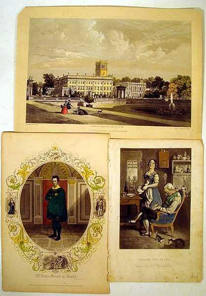 Lot 3134: Adams Monroe Wellington ORIGINAL ANTIQUE LITHOGRAPHS Architecture Hand-Tinted Botanical Plates Portraiture Period Ecclesiastic Costuming