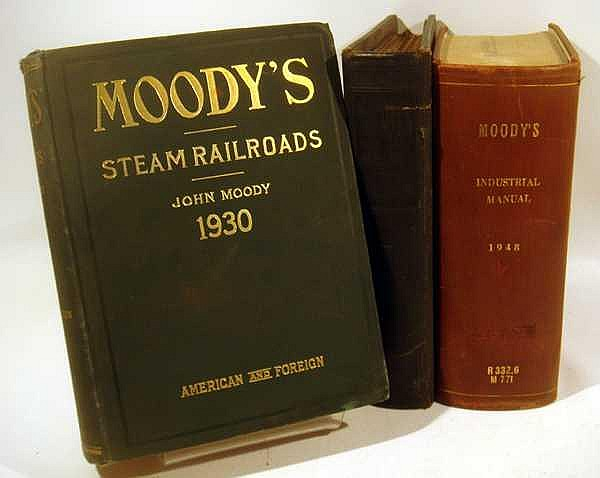 3V American & Foreign Steam Railroads Fold-Out Maps ANTIQUE & VINTAGE MOODY'S MANUALS Investments Industrial Securities Investors Service