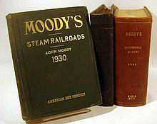Lot 3032: 3V American & Foreign Steam Railroads Fold-Out Maps ANTIQUE & VINTAGE MOODY'S MANUALS Investments Industrial Securities Investors Service
