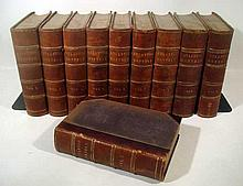 Lot 3172: 10V Civil War Uniformly Bound THE ATLANTIC MONTHLY Volumes I to X Nathaniel Hawthorne Victor Hugo Individuality Thomas Jefferson and Slavery Secession Chiefly About War-Matters Gilt Lettering Half Leather Bindings Marbled Edges Marbled End Paper