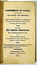 Lot 3175: A CONFESSION OF FAITH PUT FORTH BY THE ELDERS AND BRETHREN OF MANY CONGREGATIONS OF CHRISTIANS 1827 Antique Theology