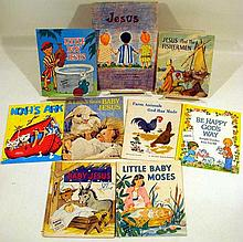Lot 3176: 40V Bible Stories Old Testament VINTAGE AND ANTIQUE CHILDRENS Chromolithographs Arthur Twinkle Loon A Place for Penny Robert E. Barry New Testament Mary Stover Wallace Stover Phoebe M. Anderson