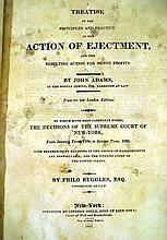 Lot 3106: John Adams / Philo Ruggles TREATISE ON THE PRINCIPLES & PRACTICE OF THE ACTION OF EJECTMENT 1821 Antique English Law Table Of Cases