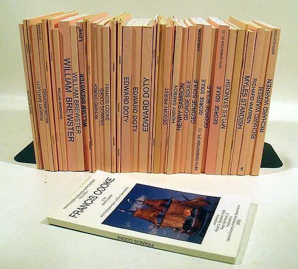 40V American History Genealogy MAYFLOWER FAMILIES IN PROGRESS 1986-2003 Myles Standish George Soule Doty Bradford Descendants