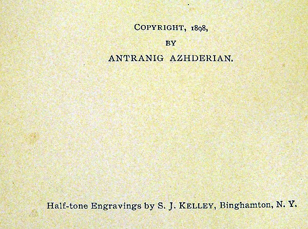 Lot 3112: Antranig Azhderian THE TURK AND THE LAND OF HAIG OR TURKEY & ARMENIA 1898 First Edition Antique Middle East History Plates