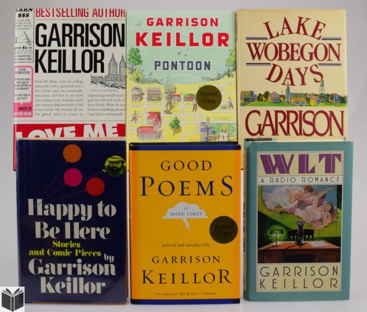 7v Literature Author Signed Garrison Keillor Humor Satire Politics