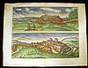 Georg Hoefnagel ANTIQUE HAND-COLORED BIRD'S-EYE VIEWS OF ANDALUSIAN TOWNS c1600 Lebrija Setenil De Las Bodegas Spain Latin Text, Georg Hoefnagel, Click for value