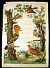 Nederlandsche Vogelen ANTIQUE TITLE PAGE ENGRAVING Cornelius Nozeman Ornithology Oology Dutch Birds Hand-Tinted, Cornelius Nozeman, Click for value