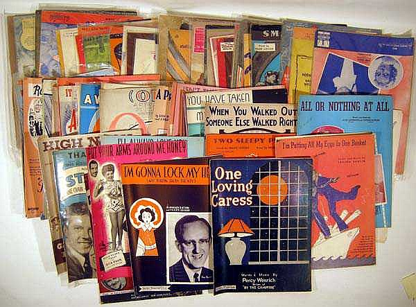 80+ Pc. Vintage Decorative SHEET MUSIC Movie Stars Popular Singers Band Leaders