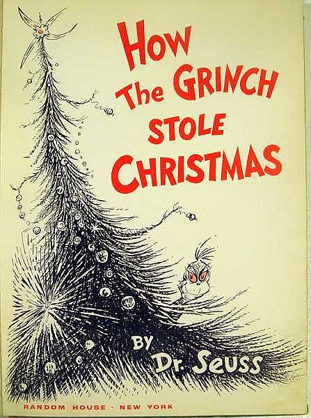 How The Grinch Stole Christmas Book Cover.Dr Seuss How The Grinch Stole Christmas First Printing