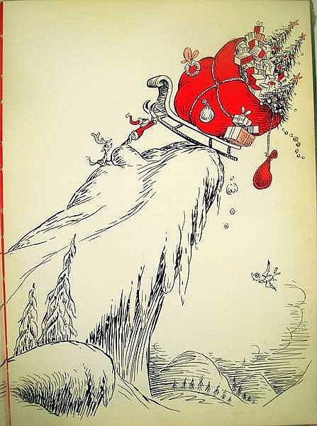 How The Grinch Stole Christmas Book Illustrations.Dr Seuss How The Grinch Stole Christmas First Printing
