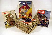 50V Vintage Periodicals 1942-3 SATURDAY EVENING POST Magazines Norman Rockwell Covers Illustrations J.C. Leyendecker Mead Schaeffer World War II Andrew Wyeth