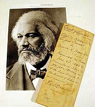 DEED OF RELEASE SIGNED BY FREDERICK DOUGLASS 1886 African-American History Recorder Of Deeds For The District Of Columbia