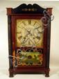 All Original SAMUEL TERRY TRANSITIONAL SHELF CLOCK Bristol CT Wooden Movement Weight Driven