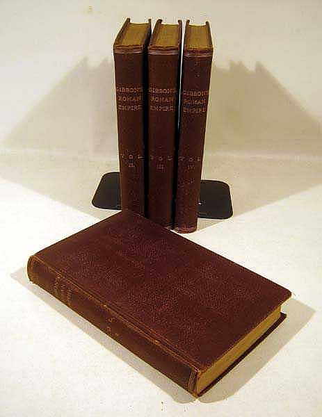 4V Edward Gibbon THE HISTORY OF THE DECLINE AND FALL OF THE ROMAN EMPIRE 1843-1844 Classic Work Of Modern Historiography Fold-Out Maps