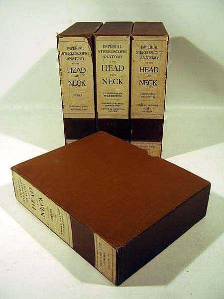 4V Head & Neck IMPERIAL STEREOSCOPIC ANATOMY Medical Anatomical Study Keystone View
