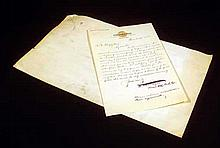 2Pc Bordeaux Consulate Will SIGNED DOCUMENTS BY A. W. TOURGEE Handwritten Letter Our Continent Weekly Magazine Stock Transaction
