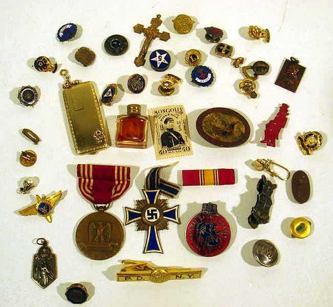 Vintage & Antique MEDALS, BADGES, & LAPEL PINS Fraternal Military