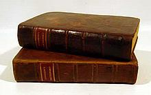 2V Samuel Johnson A DICTIONARY OF THE ENGLISH LANGUAGE 1760 Antique Reference Grammar Decorative Leather