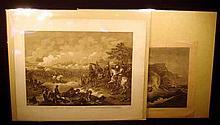 2 Pc. Antique ORIGINAL ENGRAVINGS Historical Military Franco-Prussian War Battle of Sedan Bismarck Moltke Philip Sheridan Albion Shipwreck