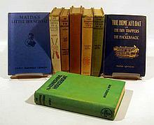 8V Antique HOUSEBOAT-THEMED JUVENILE LITERATURE Children's Books Fiction Adventure Bobbsey Twins Outdoor Chums Mystery