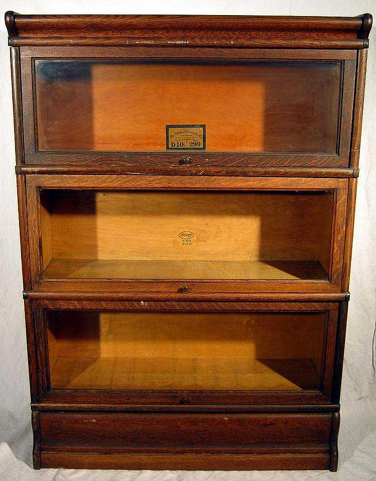 Oak Furniture Antique Stacking Barrister Bookcase Globe Wern