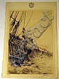 Arthur Briscoe MAKE FAST c1930 Original Engraving On Laid Paper With Watermark Signed In Plate English Art