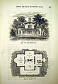 A. J. Downing THE ARCHITECTURE OF COUNTRY HOUSES 1859 Antique Binding Designs For Cottages Farm-Houses & VIllas Plates Textual Illustrations