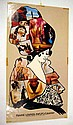 8 Pc. Vintage 1960s PSYCHEDELIC DESIGN POSTERS Capitol Records Uncle Sam KFWB