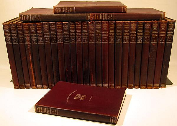 29V ENCYCLOPEDIA BRITANNICA 1910 Eleventh Edition Stiff Leather Well-Known Scholars Pieces American Influence