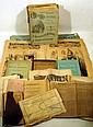 Antique ESTATE EPHEMERA Botany Nashville Medical Indiana University 1842 English Almanac Chester Co. Property Map Nast Cartoons Engravings