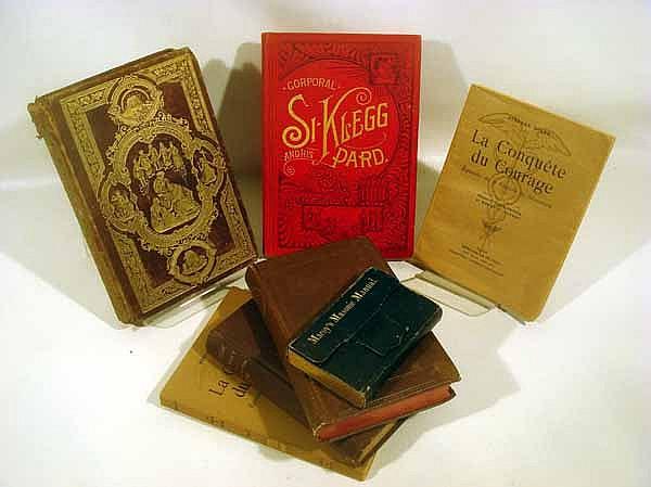7V Decorative Antiquarian CIVIL WAR & FRATERNAL BOOKS