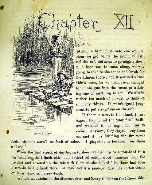 an overview of the point of view in the novel the adventures of huckleberry finn by mark twain Not so fast, say educators who've taught the book and see its historical value   twainjpg view full sizecourtesy the mark twain house,  buy a new edition of  mark twain's adventures of huckleberry finn, which eliminates.