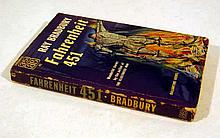 Ray Bradbury FAHRENHEIT 451 1953 First Printing Vintage Science Fiction Classic US Literature Cover Art & Full-Page Illustrations By Joe Mugnaini