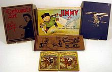 6V Antique & Vintage HISTORY OF CARTOONS, COMICS, & CARICATURE Political Satire Newspaper Comic Strips Teddy Bear Series Robert Towne Jimmy Swinnerton Mutt & Jeff Bud Fisher Jay N. Darling J. Campbell Cory
